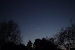 Moon and Venus - by Linton Guise