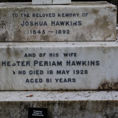 Hawkins grave inscription