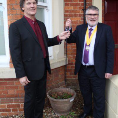 Patrick Cunningham & Mayor Dave Hodgson