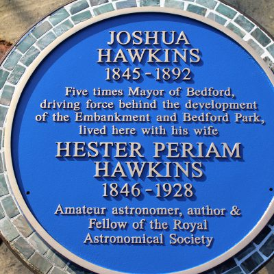 Joshua and Hester Hawkins Blue Plaque
