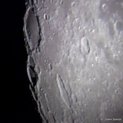 Lunar craters by Dawn Sunrise