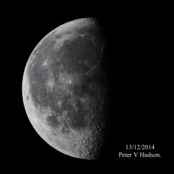 Half moon by Peter Hudson
