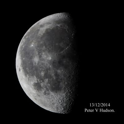 Half moon by Peter Hudson