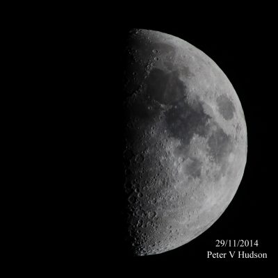 Half moon, by Peter Hudson