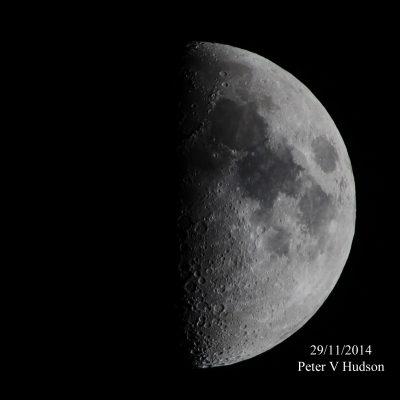 Half moon, by Peter Hudson