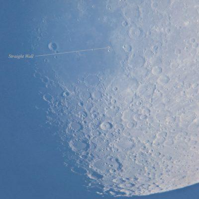 Lunar straight wall in hazy daylight, 7th June 2014, by Dawn Sunrise