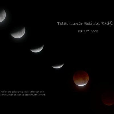 Total lunar eclipse February 21st 2008 by Linton Guise