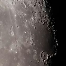 Close up moon by Phil Stone