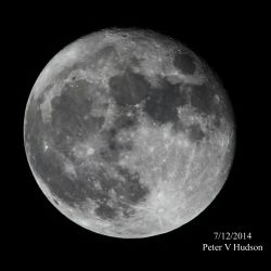 The Moon, December 2014, by Peter Hudson