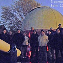 The BAS members observing 3 comets in the early morning, by Peter Truscott