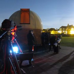 The Sky At Night crew setting up, by Alex Calverley